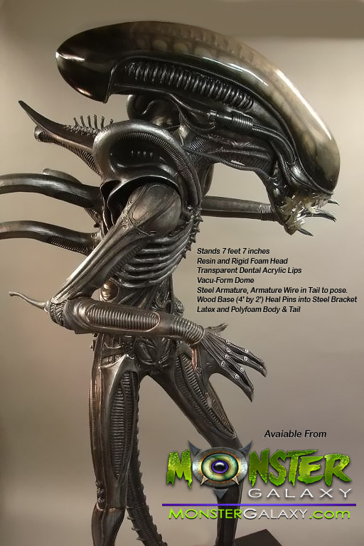 Life-size  Alien Figure Statue Lifesize Alien Figure  Lifesized Alien Replica, Horror, Sci-Fi Memorabilia, Movie Alien Prop Figures Monster Alien Movies and Hollywood Props & Movie Replicas