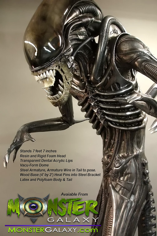 lifesize alien warrior prop 11 scale