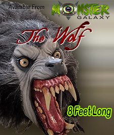 Lifesize Wolf Prop and Movie Wolf Replica Werewolf